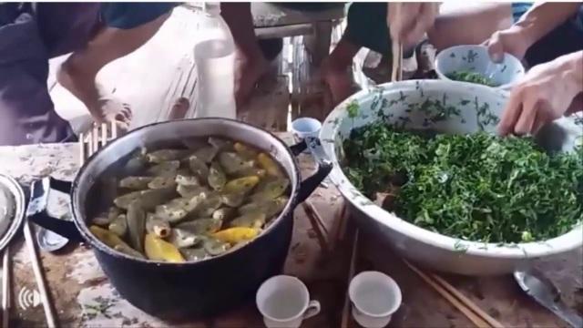 Điểm khác biệt của món ăn này chính là ở cách ăn rất lạ lùng: Cá phải còn sống, được chế biến và ăn ngay tại bàn. Ảnh: Youtube