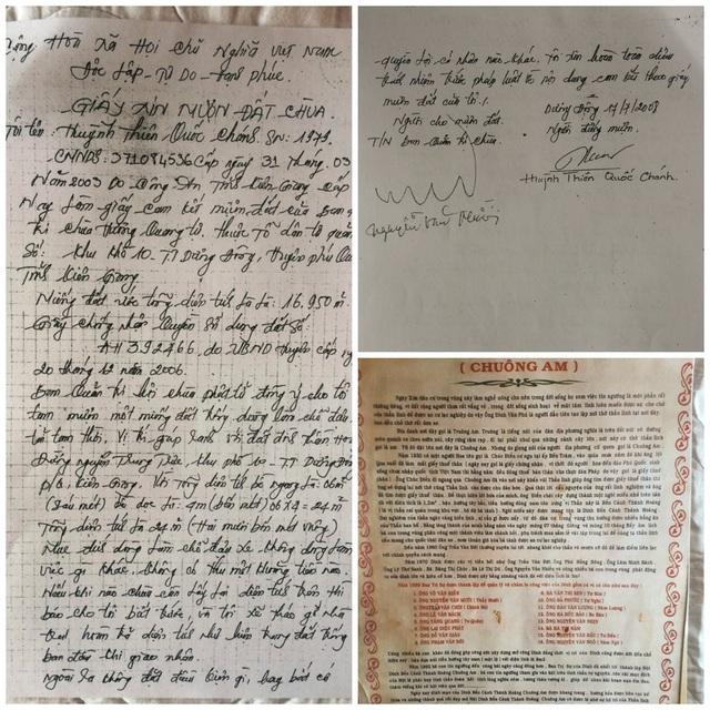 Giấy ông Nguyễn Văn Mười đại diện chùa Chuông Am ký cho ông Chánh mượn 24m đất