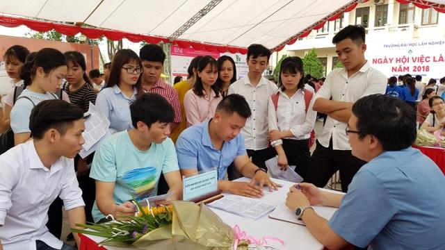 Các Công ty trong lĩnh vực Lâm nghiệp thu hút được đông đảo các bạn sinh viên tới tham gia tư vấn.