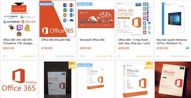 Phần mềm của Microsoft có giá chỉ vài trăm