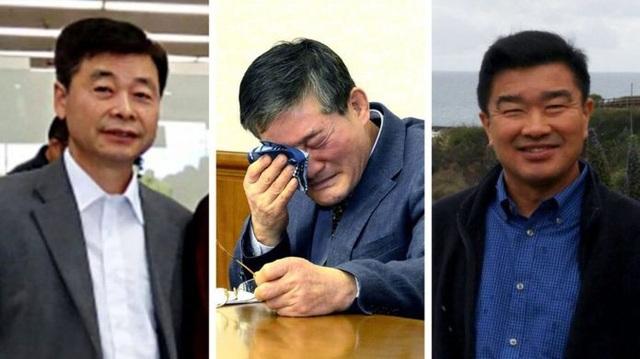 Từ trái qua phải: Kim Hak-song, Kim Dong-chul, Tony Kim (Ảnh: Reuters/AFP)