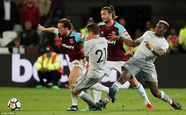 Trận đấu giữa West Ham và MU khá căng thẳng nhưng lại không có bàn thắng