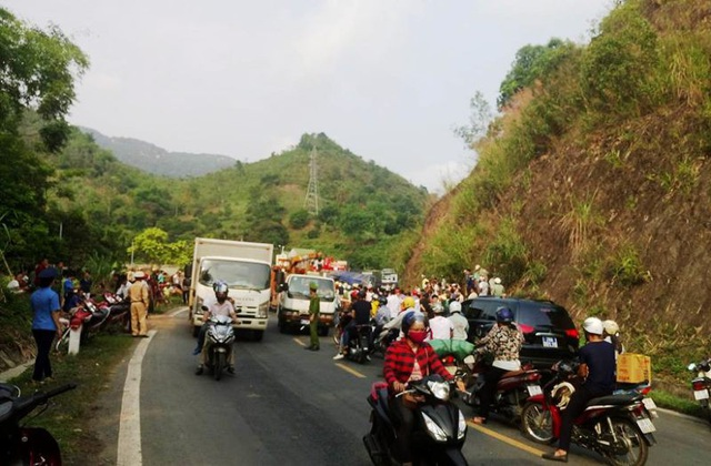 Hiện trường nơi xảy ra vụ tai nạn.