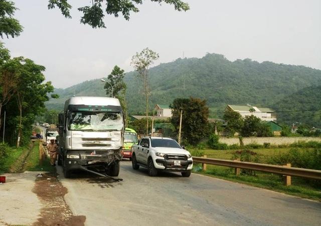 Xe tải mất phanh cách hiện trường nơi gây ra các vụ tai nạn liên hoàng hơn 1km.