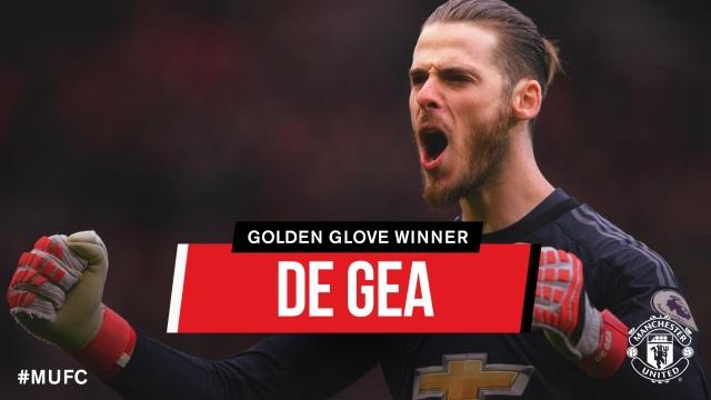 De Gea đã nhận giải Găng tay vàng ở Premier League mùa này