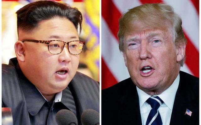 Tổng thống Donald Trump (phải) và nhà lãnh đạo Kim Jong-un (Ảnh: Reuters)