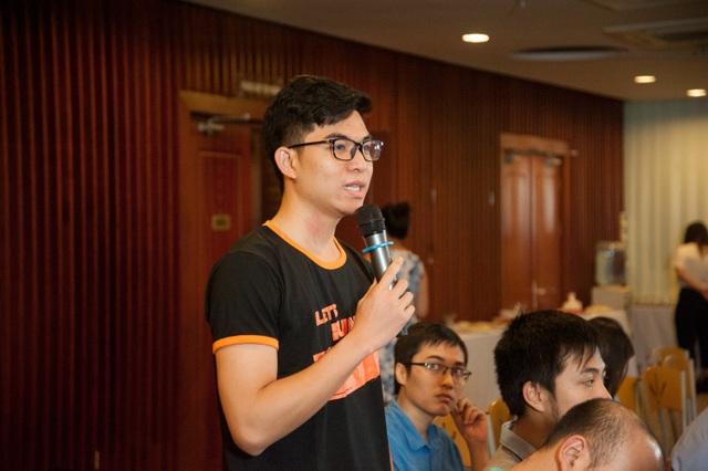 Thí sinh Nguyễn Minh Châu - đội UET Fastest cho biết Cuộc đua số là cơ hội để sinh viên tiếp cận công nghệ mới