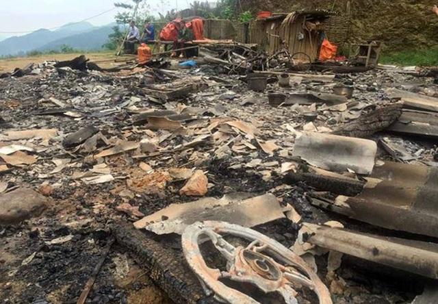 Ngôi nhà chị Phương bị đối tượng phóng hỏa nhằm phi tang.