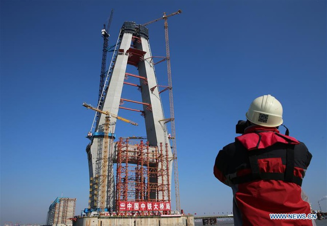 Trung Quốc sắp sở hữu cầu dây văng có nhịp chính dài nhất thế giới - 5