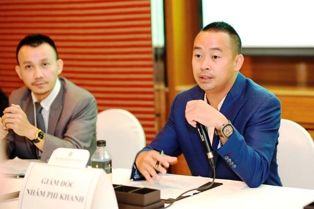 Ông Nhâm Phi Khanh, Giám đốc Mumuso Việt Nam trả lời các thông tin liên quan đến thương hiệu Mumuso trước giới truyền thông.