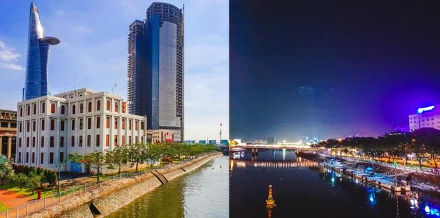 Sông Sài Gòn mang vẻ đẹp hiện đại, sầm uất bất kể đêm ngày dưới ống kính Galaxy S9
