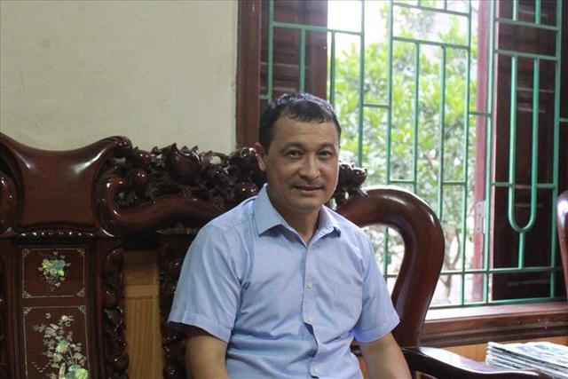 Ông Vũ Văn Tuyến, trưởng thôn xã Phụ Chính mong sớm nhận được quyết định cho phép bán cây của chính quyền