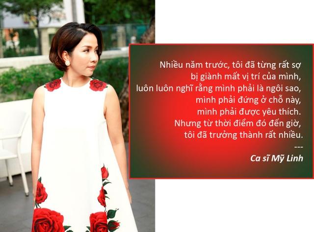 """Xem thêm: Diva Mỹ Linh: """"Tôi từng rất sợ bị giành mất vị trí của mình"""""""
