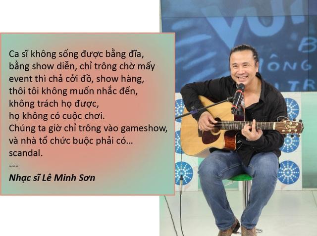 """Xem thêm: Lê Minh Sơn: """"Vì mưu sinh, nhiều ca sĩ phải hát trên bàn tiệc"""""""