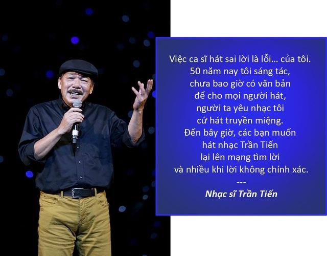 """Xem thêm: Trần Tiến: """"Lê Minh Sơn, Đàm Vĩnh Hưng hát sai lời ca khúc của tôi"""" Tùng Dương bị """"đuổi"""" khi đi xin hát ở quán bar"""