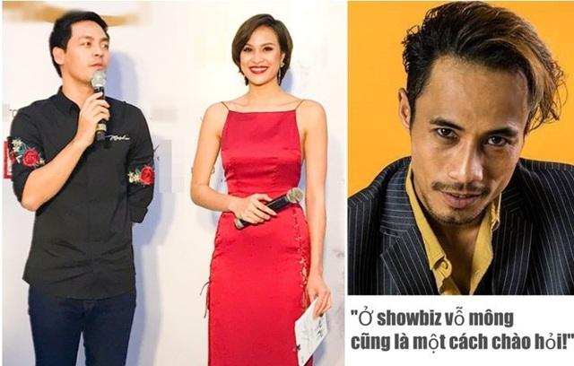 Phương Mai và MC Phan Anh đã phản ứng mạnh mẽ trước lời biện minh Ở showbiz, vỗ mông cũng là một cách chào hỏi của Phạm Anh Khoa. Ảnh: TL.