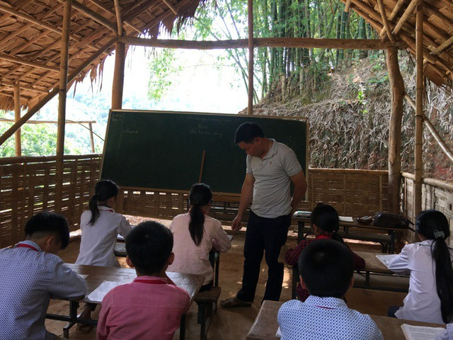 Lớp học nhiều không nơi điểm trường lẻ