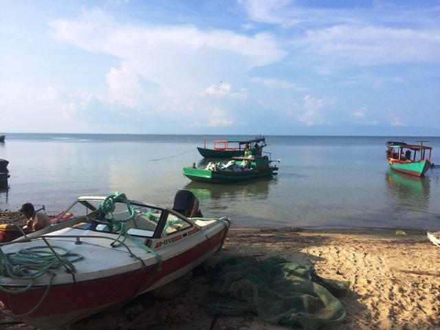 Làng chài ở Mũi Dương, xã Gành Dầu, huyện Phú Quốc