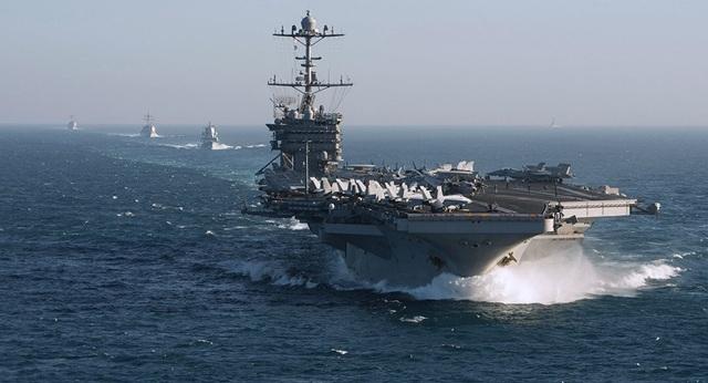 Nhóm tác chiến tàu sân bay USS Harry S. Truman của Mỹ (Ảnh: US Navy)