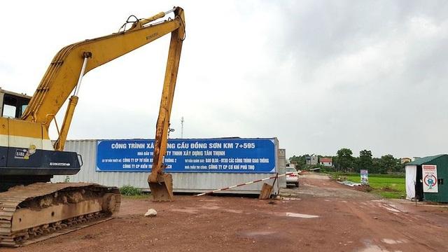 Hiện trường thi công dự BT nghìn tỷ của Công ty TNHH Tân Thịnh.
