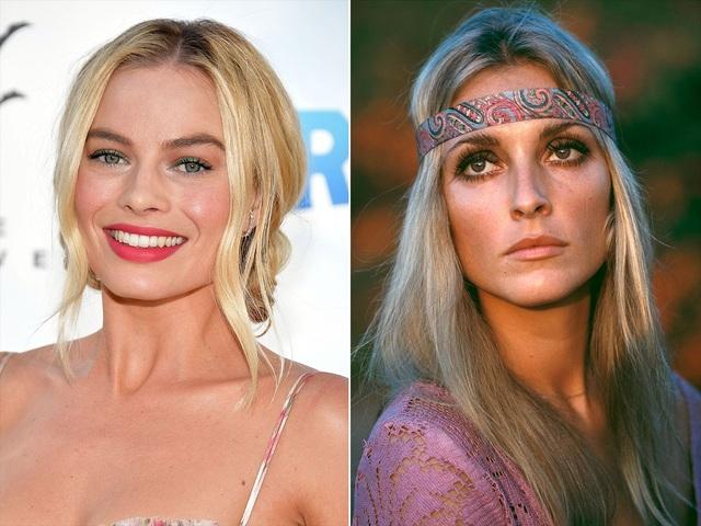 Nữ diễn viên Margot Robbie (trái) sẽ hóa thân vào vai nữ diễn viên quá cố Sharon Tate (phải)