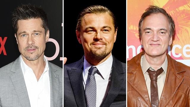 Lần lượt từ trái qua phải: tài tử Brad Pitt, tài tử Leonardo DiCaprio, đạo diễn Quentin Tarantino