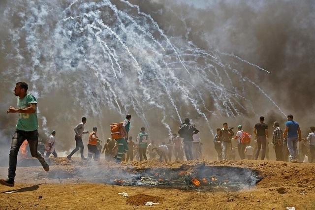 Bạo loạn tại khu vực dải Gaza (Ảnh: Twitter)