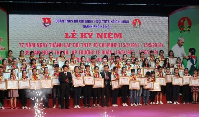 60 Liên đội trưởng tiêu biểu Thủ đô năm học 2017 - 2018