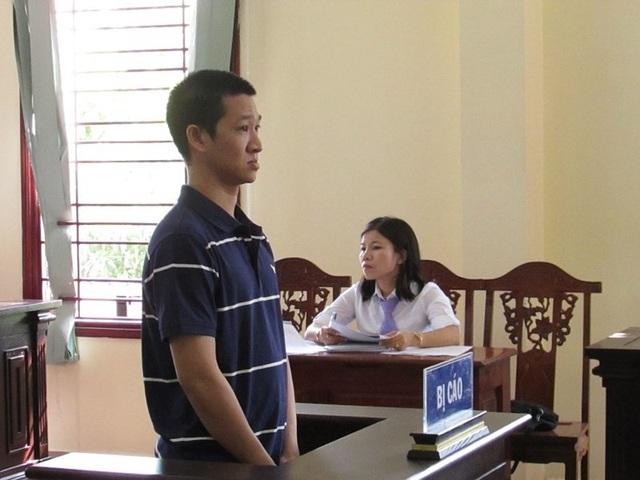 Bị cáo Nguyễn Thái Trường tại tòa sơ thẩm. Ảnh: NN