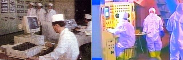 Các nhà khoa học Triều Tiên làm việc tại cơ sở hạt nhân ở Yongbyun, tình Bắc Pyongan (Ảnh: YTN)