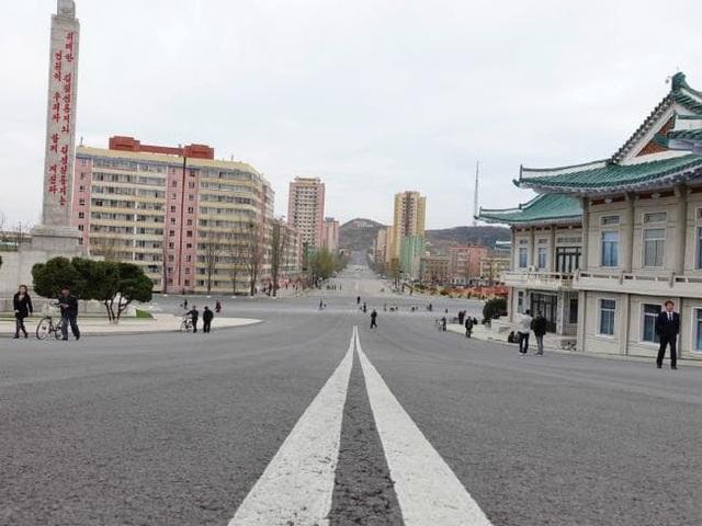 Tuyến đường ở Kaesong, Triều Tiên (Ảnh: Rachel Davey)