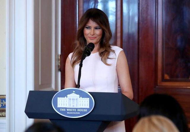 Sở hữu chiều cao 1,8m, bà Melania Trump là Đệ nhất phu nhân Mỹ cao nhất trong lịch sử. (Ảnh: Getty)