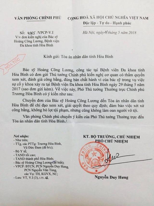 Phó Thủ tướng Trương Hòa Bình đã nhận được tâm thư của bác sĩ Hoàng Công Lương - 1