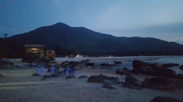 Biển về tối