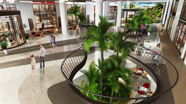 Khu thương mại dịch vụ, shophouse kết hợp vườn thông tầng tạo cảm giác mua sắm đặc biệt cho cư dân