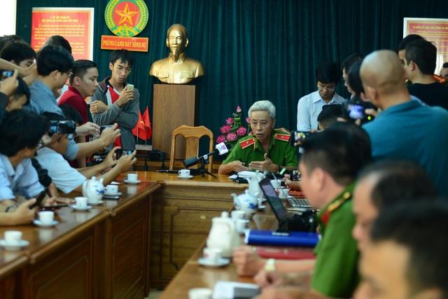 Thiếu tướng Phan Anh Minh - Phó giám đốc Công an TPHCM chủ trì buổi họp báo