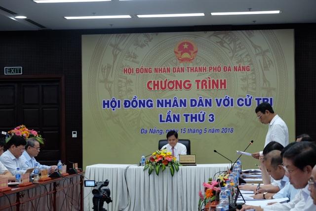 Chương trình Hội đồng nhân dân TP Đà Nẵng với cử tri vừa diễn ra sáng 15/5 do ông Nguyễn Nho Trung - Phó Chủ tịch HĐND thành phố chủ trì
