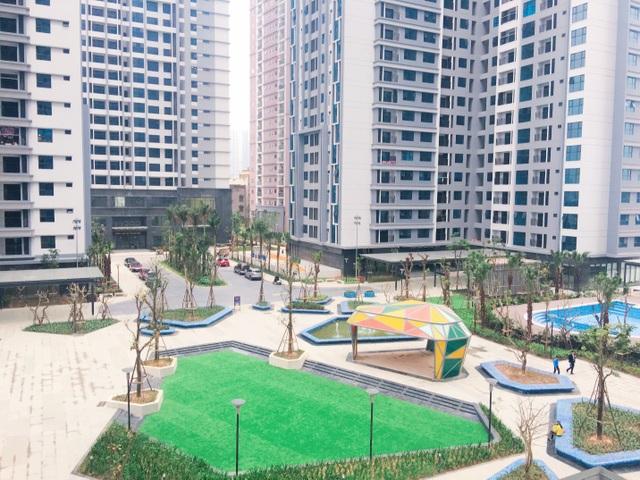 Một phần quảng trường đã hoàn thiện của TNR Sky Park