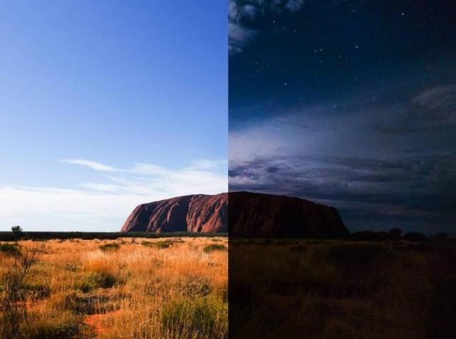 Uluru – ngọn núi thiêng nổi tiếng nằm ở miền trung tâm nước Úc cũng được các tín đồ nhiếp ảnh khám phá và ghi lại vẻ đẹp huyền diệu đầy kì bí tại từng thời điểm khác nhau trong ngày. Uluru có khả năng tự biến đổi màu sắc tùy theo thời tiết và khoảng thời gian trong ngày như đỏ sẫm, vàng cam, xanh thẫm hay tím. Sự biến chuyển màu sắc độc đáo theo thời gian của ngọn núi này giờ đây được hội tụ trong cùng một bức ảnh qua lăng kính Galaxy S9, tạo nên cái nhìn trọn vẹn hơn về vẻ kỳ bí của Uluru, điều mà bạn chưa được thấy trước đây. (ảnh: remybrand – Instagram)