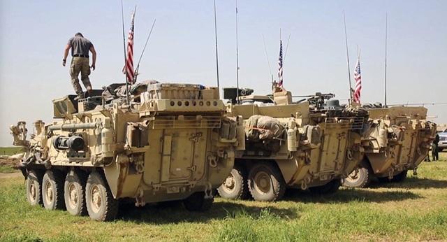 Các xe bọc thép được Mỹ triển khai tới Syria (Ảnh: Sputnik)
