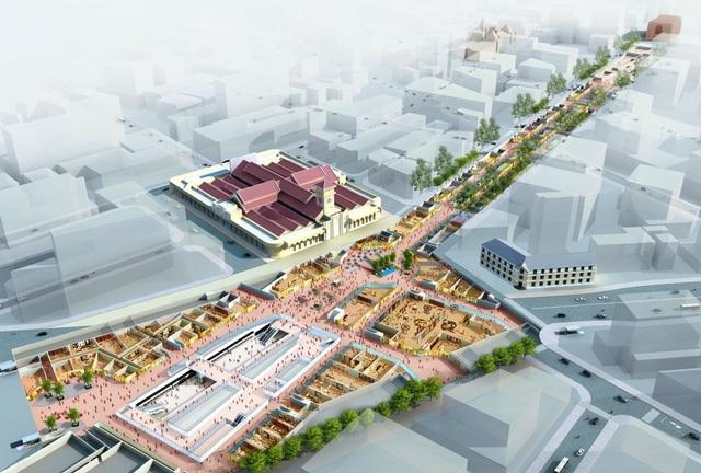 Trung tâm thương mại ngầm tại nhà ga ngầm Bến Thành, thuộc dự án metro Bến Thành - Suối Tiên (Ảnh: Ban Quản lý đường sắt đô thị TPHCM)