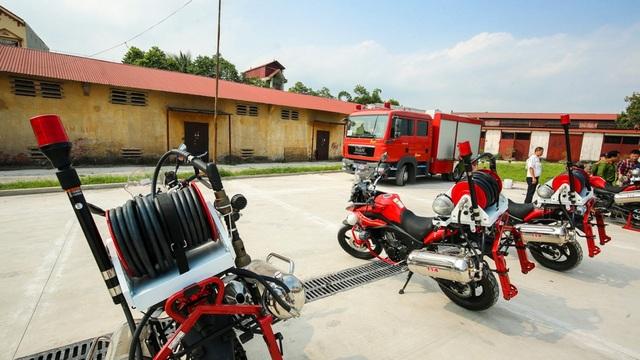 Lực lượng PCCC kỳ vọng những chiếc xe môtô cứu hỏa này sẽ phát huy tác dụng khi có hỏa ở địa bàn ngõ nhỏ, đường phố chật hẹp.