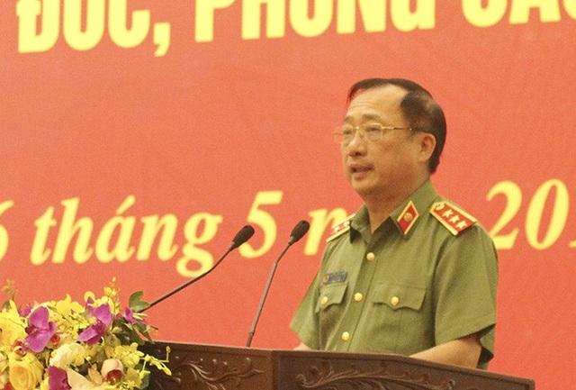 Thượng tướng Nguyễn Văn Thành, Thứ trưởng Bộ Công an phát biểu tại hội nghị