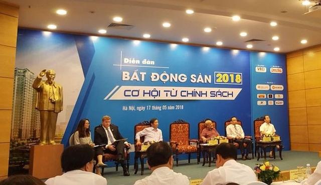Các diễn giả tham gia Diễn đàn Bất động sản 2018.