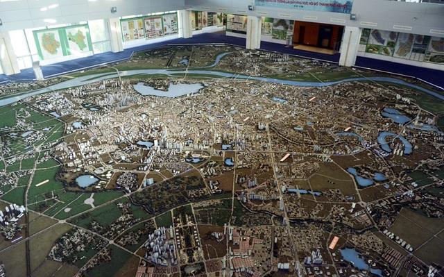 Sa bàn toàn cảnh quy hoạch Hà Nội năm 2030, tầm nhìn 2050. Nguồn: Internet
