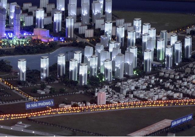 Địa bàn quận Long Biên là khu vực được chú trọng phát triển. (Ảnh sa bàn quy hoạch một khu của quận Long Biên. Nguồn: Internet)