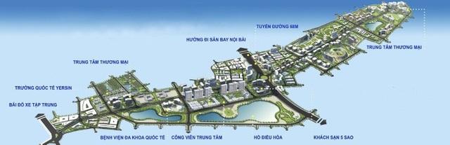 Ảnh quy hoạch của một khu đô thị tại Long Biên.
