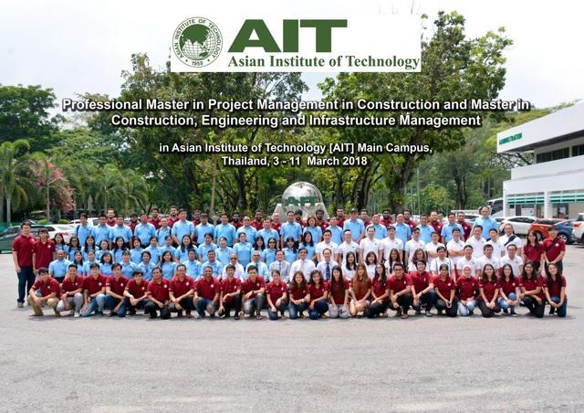 Tham gia học tập tại AIT Thái Lan cùng các sinh viên quốc tế.