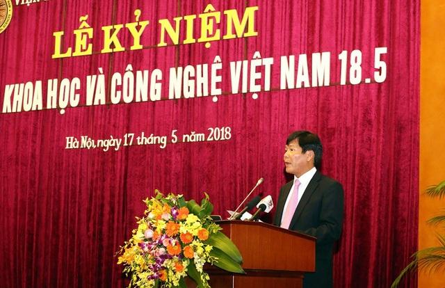 GS.TS Nguyễn Quang Thuấn phát biểu tại lễ kỷ niệm.