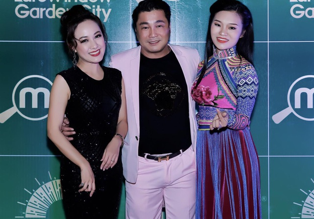 Hoài Anh và Lý Hùng hội ngộ trong một sự kiện sau nhiều năm hợp tác trong phim.